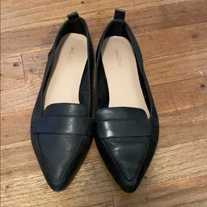ALDO Pointed Toe Black Flats